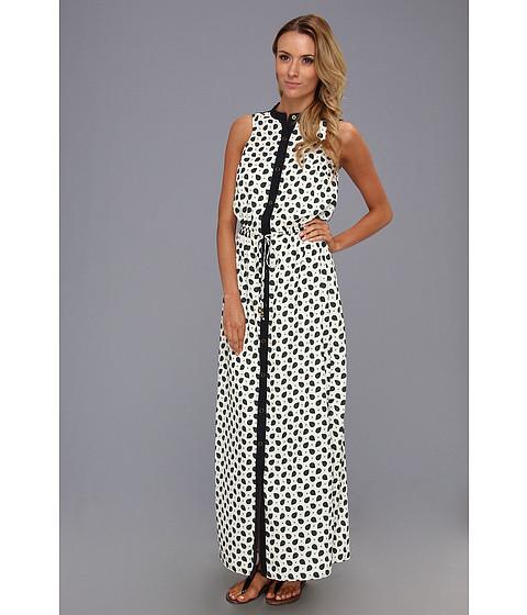 Rochii MICHAEL Michael Kors - Pajama Print Maxi Dress - Cream/Gooseberry