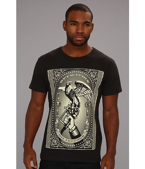 Tricouri Obey - Oil Freedom Tee - Graphite