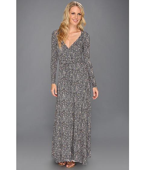 Rochii Rachel Pally - Printed Long Wrap Dress - Black Snakeskin