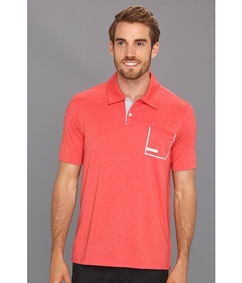 Tricouri adidas - CLIMALITE® Angular Heather Pocket Polo - Coral/Chrome