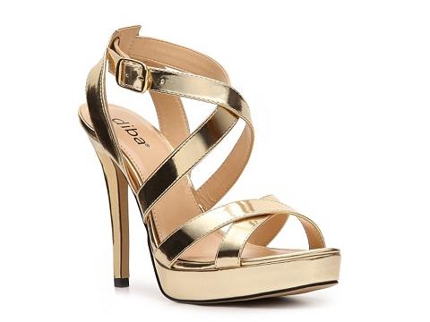 Pantofi Diba - Tenith Platform Sandal - Gold Metallic