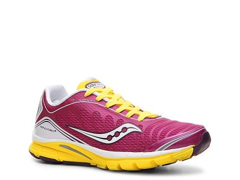 Adidasi Saucony - ProGrid Kinvara 3 Lightweight Running Shoe - Womens - Pink/Yellow/White/Purple
