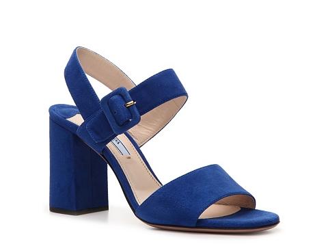 Sandale Prada - Suede Sandal - Cobalt Blue