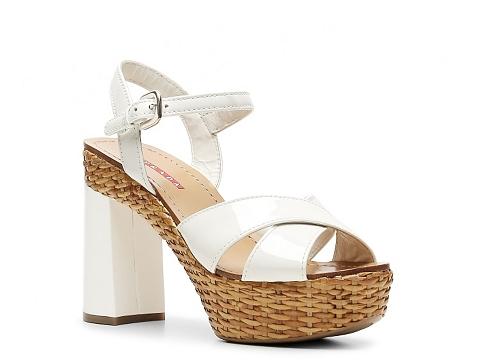 Sandale Prada - Patent Leather Platform Sandal - White