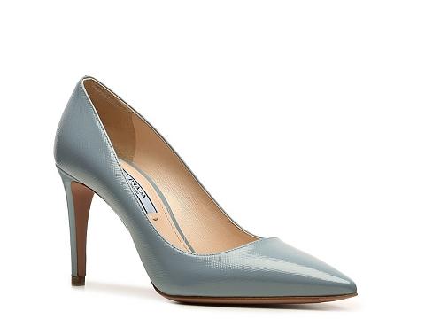 Pantofi Prada - Patent Leather Pump - Light Blue