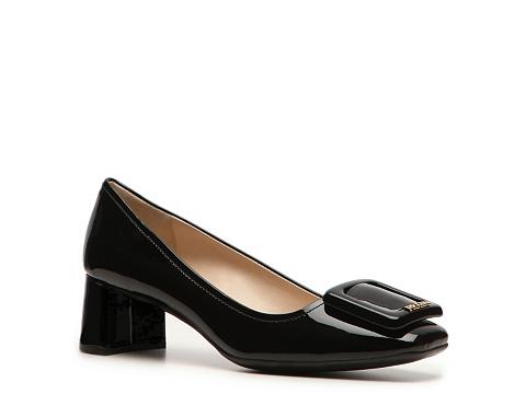 Pantofi Prada - Patent Leather Buckle Pump - Black