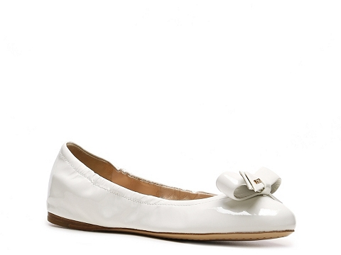 Balerini Prada - Patent Leather Bow Flat - White