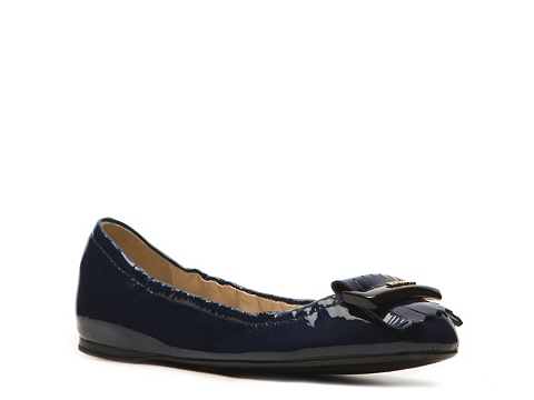 Balerini Prada - Patent Leather Kiltie Flat - Navy