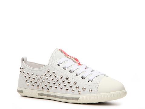Adidasi Prada - Leather Studded Sneaker - White
