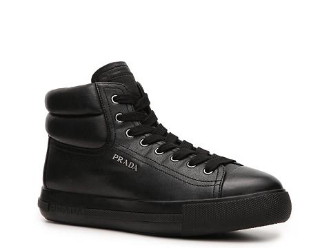 Adidasi Prada - Leather Logo Sneaker - Black