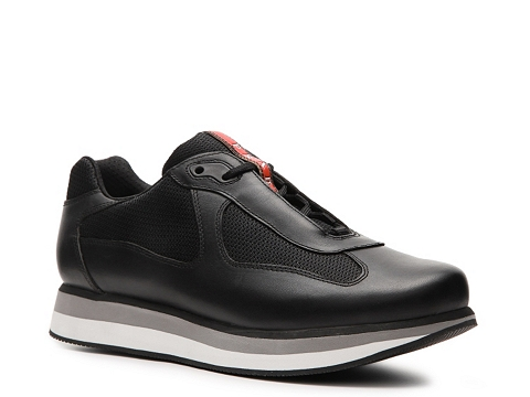 Pantofi Prada - Leather & Mesh Sneaker - Black