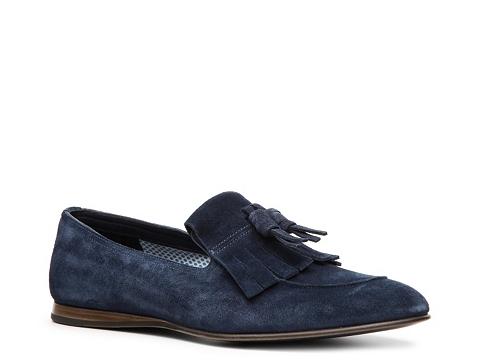 Pantofi Prada - Suede Kiltie Loafer - Blue