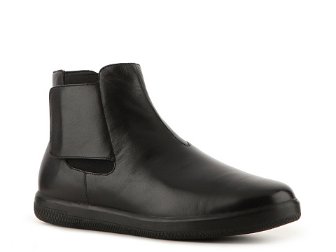 Ghete Prada - Leather Velcro Boot - Black