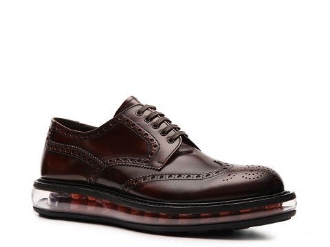 Pantofi Prada - Leather Wingtip Oxford - Burgundy