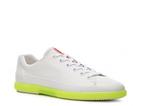 Pantofi Prada - Leather Sneaker - White/Neon Yellow
