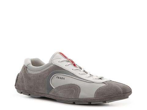 Adidasi Prada - Suede & Nylon Sneaker - Grey