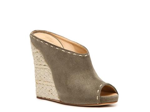 Sandale Giuseppe Zanotti - Nubuck Leather Wedge Sandal - Olive Green