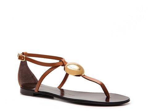 Sandale Giuseppe Zanotti - Leather Logo Sandal - Brown