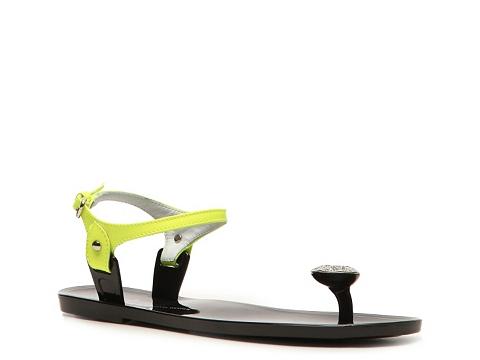 Sandale Giuseppe Zanotti - Patent Leather Flat Sandal - Neon Yellow