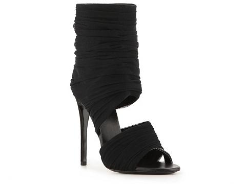 Sandale Giuseppe Zanotti - Mesh Peep Toe Sandal - Black