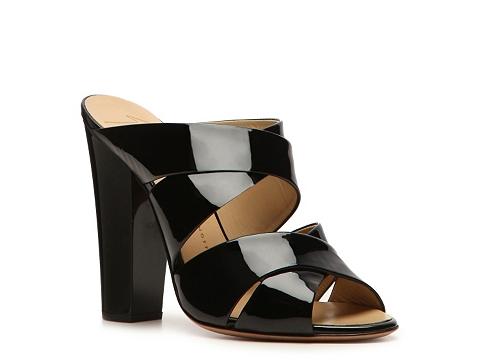 Sandale Giuseppe Zanotti - Patent Leather Peep Toe Mule - Black