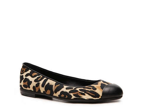 Balerini Giuseppe Zanotti - Leopard Grosgrain Cap Toe Flat - Leopard