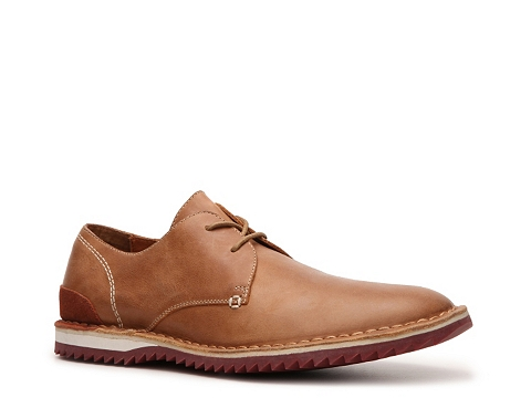 Pantofi Kenneth Cole Reaction - Jaw School Oxford - Tan/Burgundy