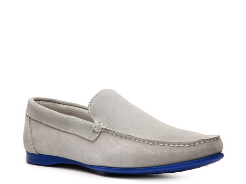 Pantofi Kenneth Cole Reaction - Trivia Contest Loafer - Light Grey/Royal Blue