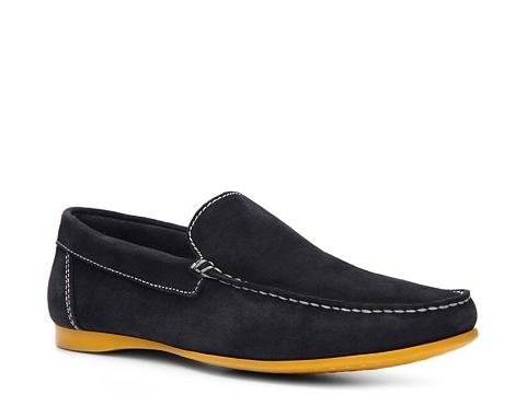 Pantofi Kenneth Cole Reaction - Trivia Contest Loafer - Navy Blue/Yellow