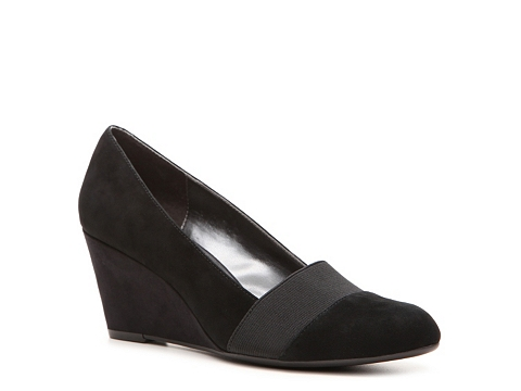 Pantofi Adrienne Vittadini - Seabrook Wedge Pump - Black