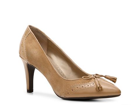 Pantofi Adrienne Vittadini - Carlsbad Pump - Beige