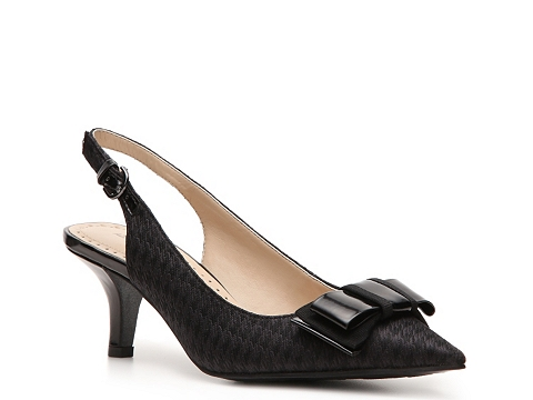 Pantofi Adrienne Vittadini - Peridot Houndstooth Pump - Charcoal Grey/Black