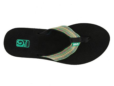 Sandale Teva - Mush II Striped Flip Flop - Green