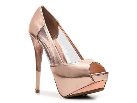 Pantofi Anne Michelle - Barbie-06 Platform Pump - Rose gold