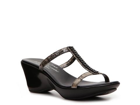 Sandale Athena Alexander Studio Direct - Eve Wedge Sandal - Black/Snake