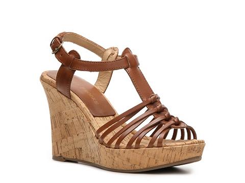 Sandale Audrey Brooke - Caress Wedge Sandal - Cognac