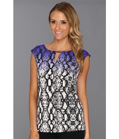Tricouri Calvin Klein - Print Extended Shoulder Top - Byzantine