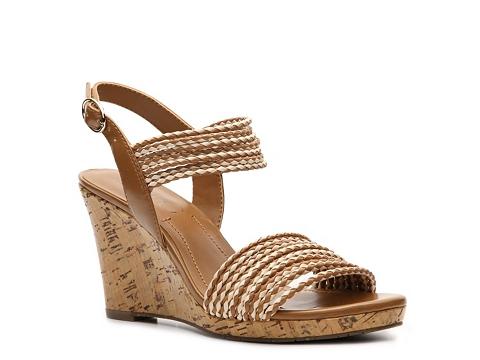Sandale BCBG Paris - Loran Wedge Sandal - Brown/Tan
