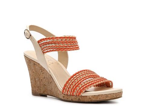 Sandale BCBG Paris - Loran Wedge Sandal - Orange