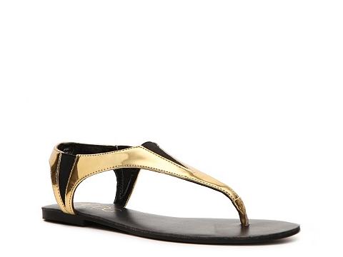 Sandale BCBG Paris - Richmand Flat Sandal - Gold
