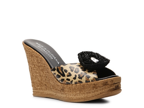 Sandale Callisto Made in California - Made in California by Callisto Dolores Wedge Sandal - Leopard