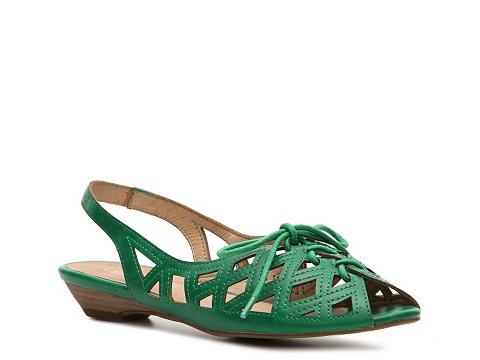 Balerini Chelsea Crew - Melissa Flat Sandal - Emerald Green