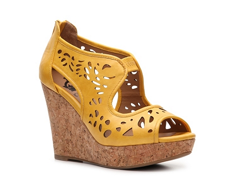 Sandale Crown Vintage - Kaycee Wedge Sandal - Yellow