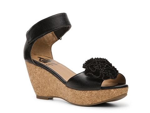 Sandale Crown Vintage - Yuma Wedge Sandal - Black