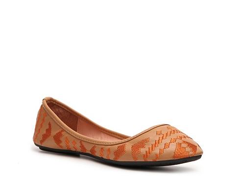 Balerini GC Shoes - Emma Southwestern Flat - Camel/Orange