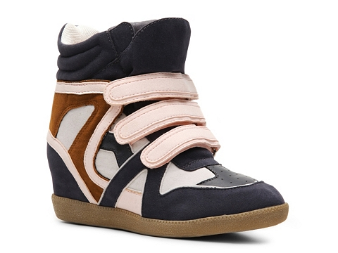Adidasi Heart Soul - Iona Wedge Sneaker - Navy/Blush/Brown