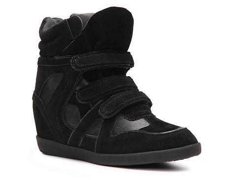 Adidasi Heart Soul - Iona Wedge Sneaker - Black