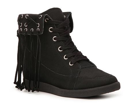 Adidasi Heart Soul - Inga Wedge Sneaker - Black