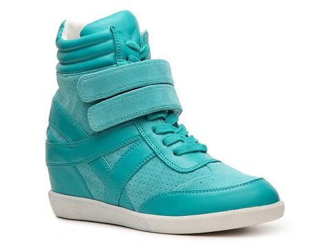 Adidasi Heart Soul - Ita High-Top Wedge Sneaker - Turquoise