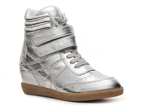 Adidasi Heart Soul - Ita Metallic Wedge Sneaker - Silver